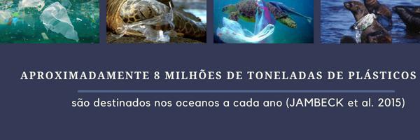 acúmulo de plástico nos oceanos.