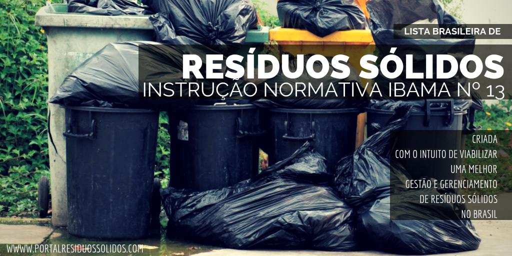 Normativa Brasileira de Resíduos Sólidos
