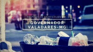 Gestão dos resíduos em Governador Valadares-MG