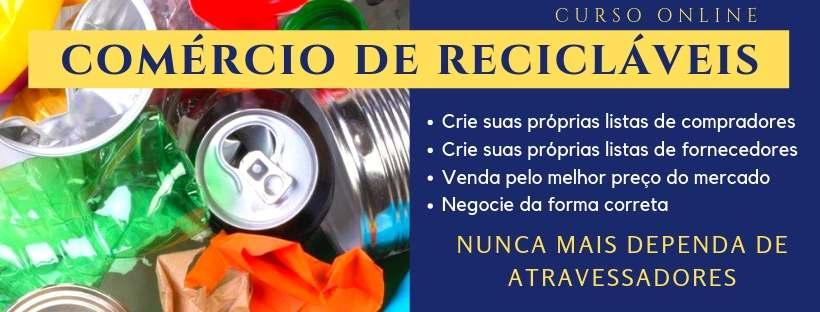 comercio de reciclaveis, compra e venda de reciclaveis, reciclagem de residuos,